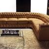 Rifoderare divano angolare in similpelle bianco