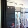 Porta doccia scorrevole in profilato alluminio e pexiglas