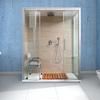 Trasformazione vasca in doccia con sostegno per disabili