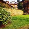 Copertura parte di giardino con pallets a liste unite,oppure listoni