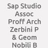 Sap Studio Assoc Proff Arch Zerbini P & Geom Nobili B
