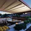 Chiusura veranda con tende anti vento