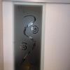 Riparazione porta con infissi in alluminio