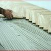 Posa di parquet in legno