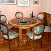 Rifacimento in pelle  di sedute e schienali  divani in vimini
