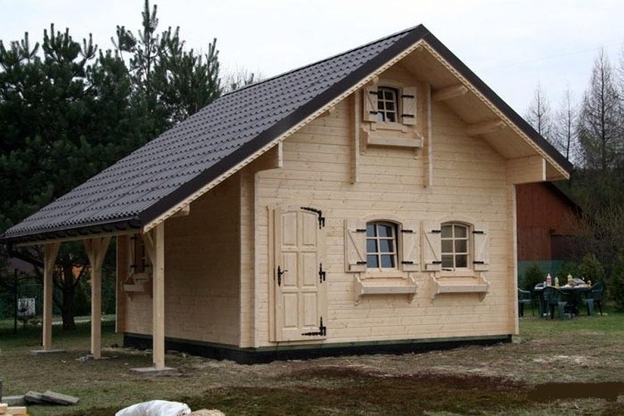 Offerta occasione euro casa di legno 50 mq for Modello di casa bungalow