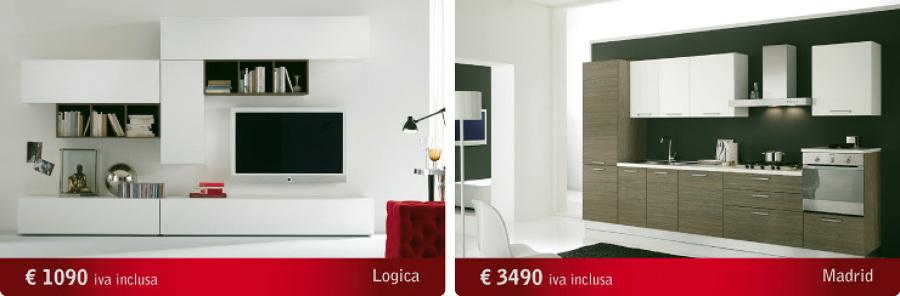 Offerta parete attrezzata cucina moderna per soli for Consonni arredamenti