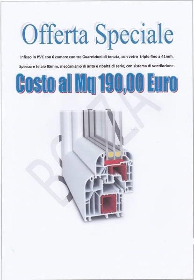 Offerta finestre pvc 190 mq offerte infissi e for Offerta finestre