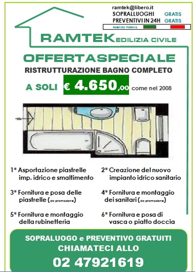 Offerta ristrutturazione bagno completo a € 4.650,00 ...