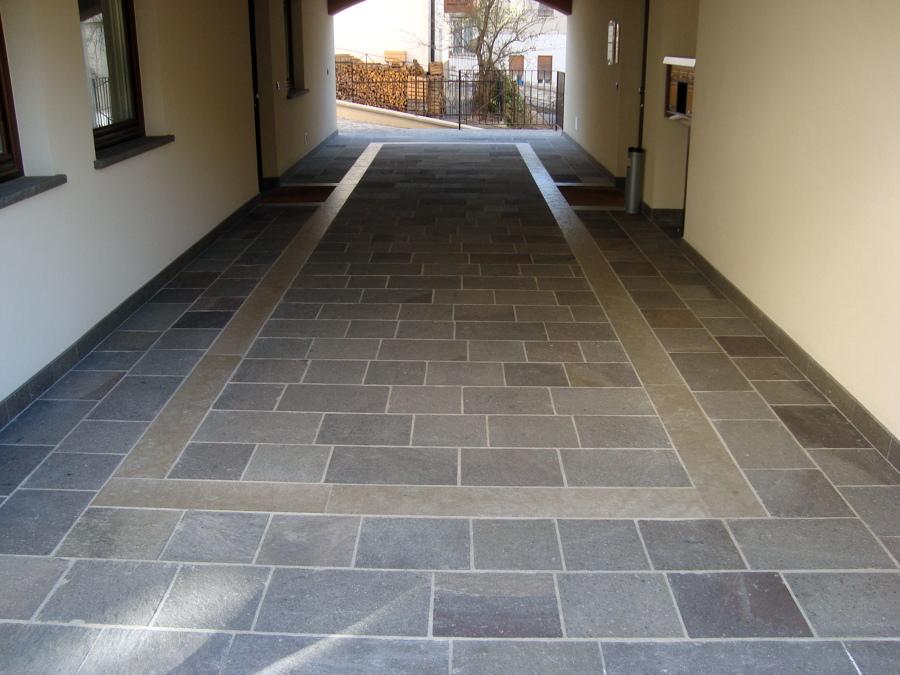 Pavimento porfido in piastrelle segate offerte muratori for Piastrelle da esterno ikea