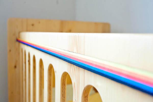 Arredamento camera bambini in legno | Lettino + Cassettiera + Fasciatoio design Made in Italy eco-friendly legno di pino | lettino neonato