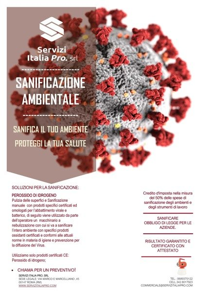 SANIFICAZIONE AMBIENTALE
