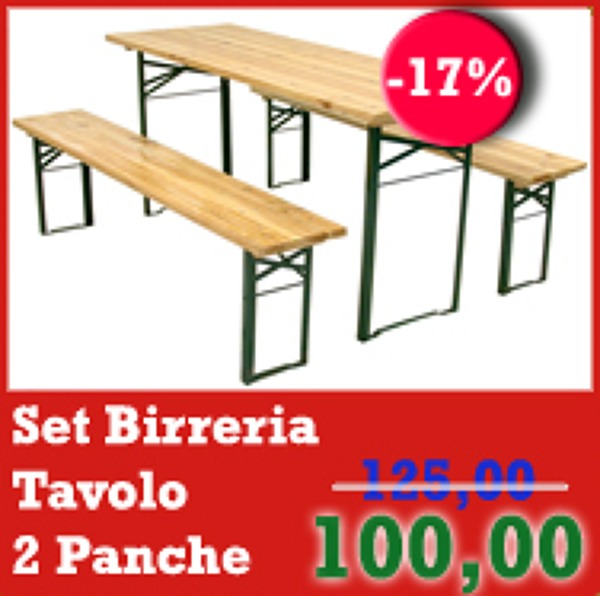 Set Tavolo + 2 Panche Birreria!