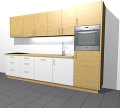 Cucina bianco rovere