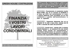 Finanziamenti lavori condominiali