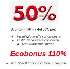 Sconto in fattura 50% - Ecobonus 110%