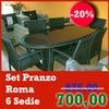 Set Pranzo Modello Roma composta da tavolo + 6 Sedie