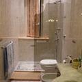 Vetro doccia colore bronzo con incisione