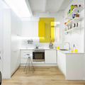 Aggiungere colore ad una cucina bianca