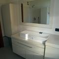 bagno su misura laccato bianco crema