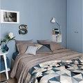 Camera da letto con pareti azzurre