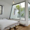 Camera da letto in attico