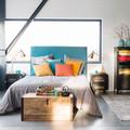 camera da letto in stile industrial
