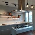 Cucina con isola, piano di lavoro