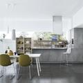 Cucina in laminato effetto cemento