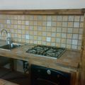 cucina in legno e gres