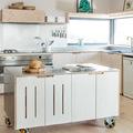 Cucina in multistrato con piani in acciaio