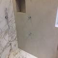doccia in resina e marmo