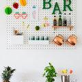 Idea creativa per realizzare un angolo bar