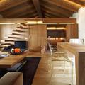 Interno casa in legno di lusso
