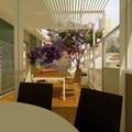 la terrazza dalla sala da pranzo
