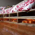 Letto in pallets