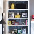 libreria fondo con carta da parati