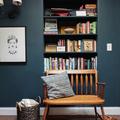 Libreria ricavata in una nicchia