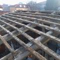 Stato di fatto dei travi del tetto