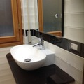 piano lavabo in marmo nero assoluto