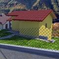 Progettazione e realizzazione di tre unità residenziali in linea su terreno collinare panoramico.