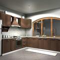 Progettazione e Render cucina in legno