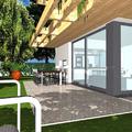 Progetto di casa unifamiliare compatta(140 mq. di SUL),tecnica costruttiva in pannelli di legno X-Lam