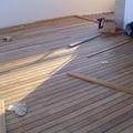 realizzazione terrazza in teak con fresatura a scomparsa