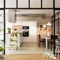 Ristrutturazione cucina e installazione parete vetrata