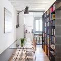 Sala da pranzo con libreria -Arch. Francesco Colorni,Elena Tirinnanzi-Foto Giulio Boem