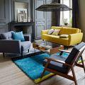 Salotto grigio e giallo