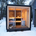 sauna esterna legno