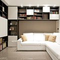 soggiorno - libreria su disegno