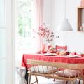 soggiorno tonalità rosa